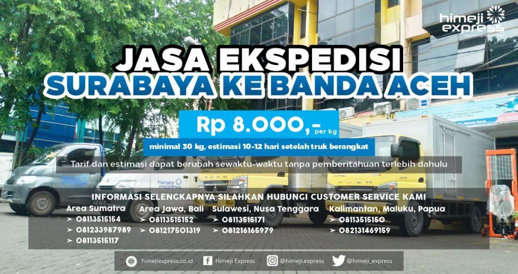 Ekspedisi Murah Surabaya ke Banda Aceh