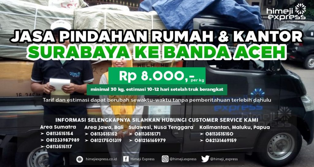 Jasa Pindahan dari Surabaya ke Banda Aceh