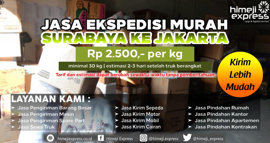 Ekspedisi Murah Surabaya ke Jakarta