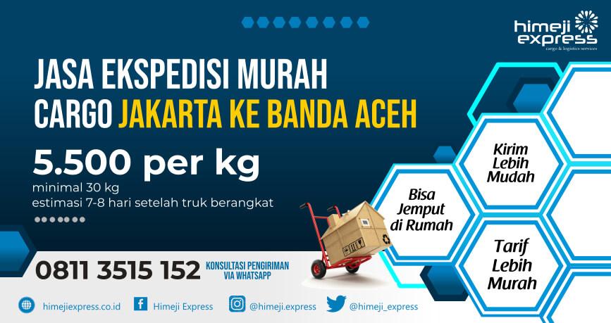 Ekspedisi Jakarta Ke Banda Aceh 5 500 Per Kg Min 30 Kg Himeji Express
