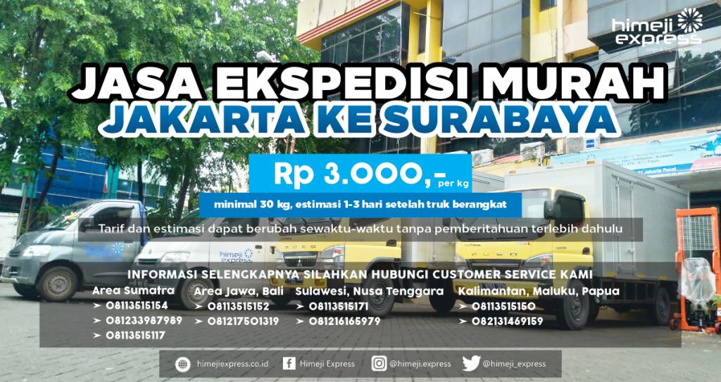 Ekspedisi Jakarta-Surabaya 1 Hari Sampai