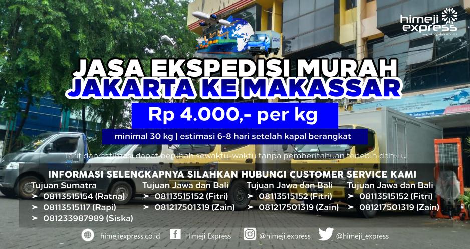 Ekspedisi Kargo Jakarta ke Makassar yang Murah
