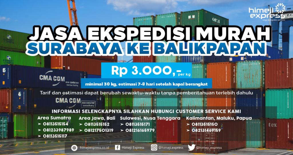 Ekspedisi Surabaya Balikpapan, Kalimantan Timur