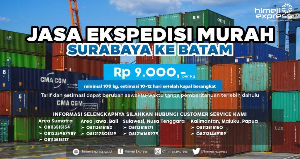 Ekspedisi Murah Surabaya ke Batam
