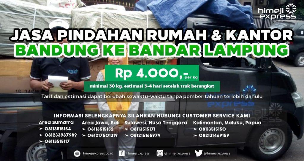 Jasa Pindahan Rumah dan Kantor Bandung ke Bandar Lampung