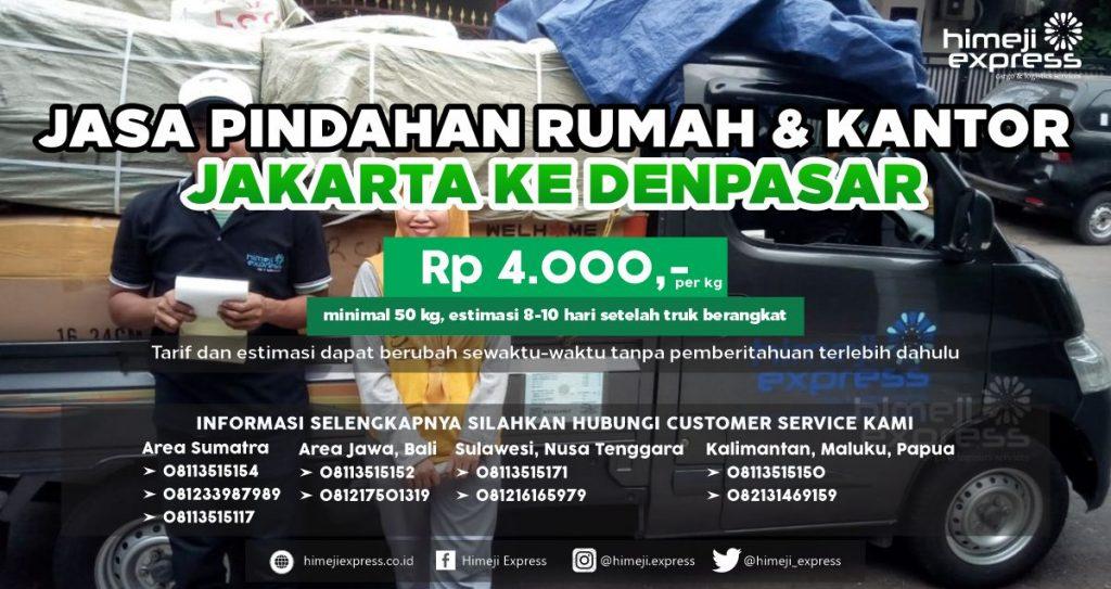 Jasa Pindahan Rumah dan Kantor Jakarta ke Denpasar