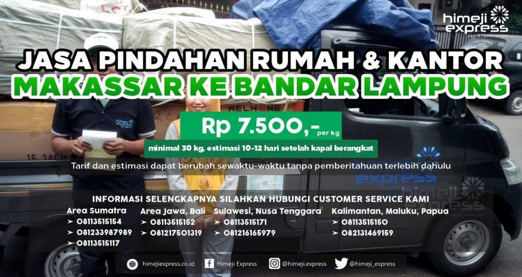 Jasa Pindahan Rumah dan Kantor Makassar ke Bandar Lampung