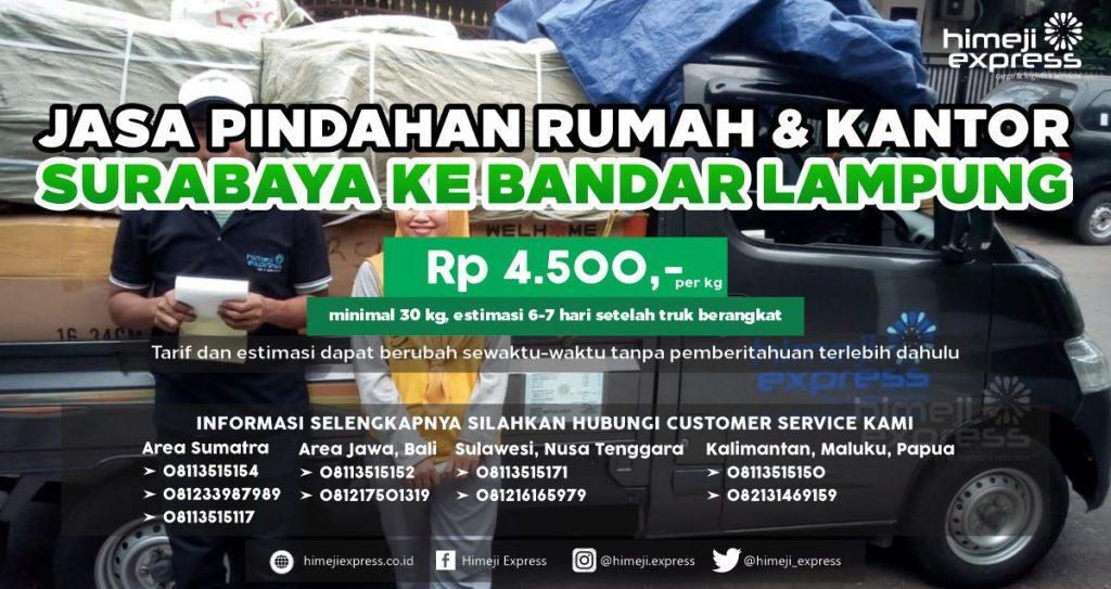 Jasa Pindahan dari Surabaya ke Bandar Lampung