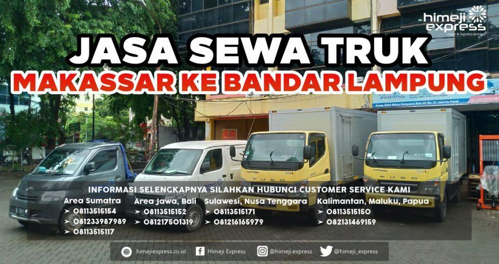 Jasa Sewa Truk Makassar ke Bandar Lampung