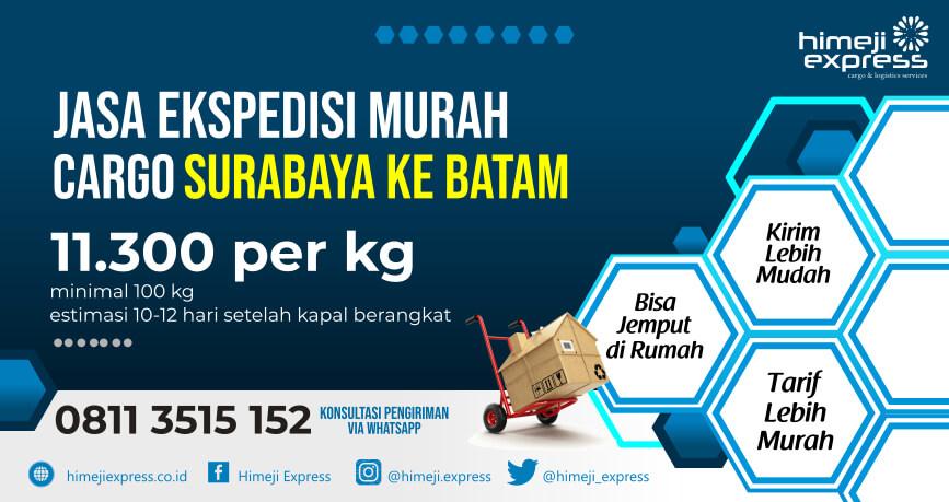 Jasa Ekspedisi Surabaya ke Batam