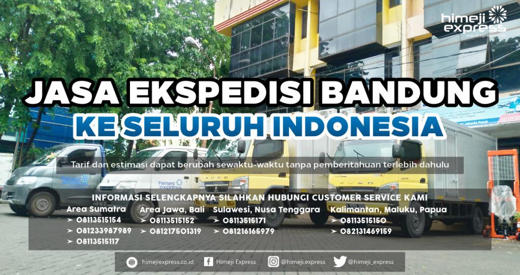 Tarif Ekspedisi Bandung ke Seluruh Indonesia