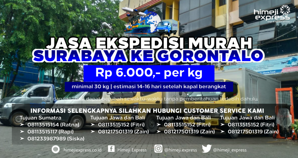 Ekspedisi Murah Surabaya ke Gorontalo