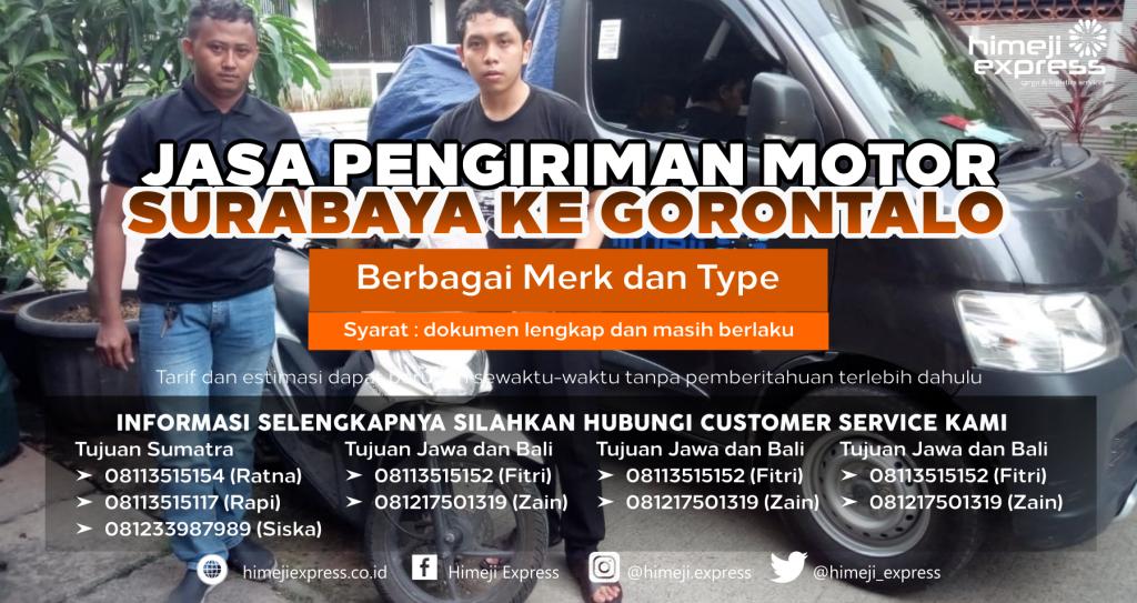 Jasa Kirim Motor Surabaya ke Gorontalo