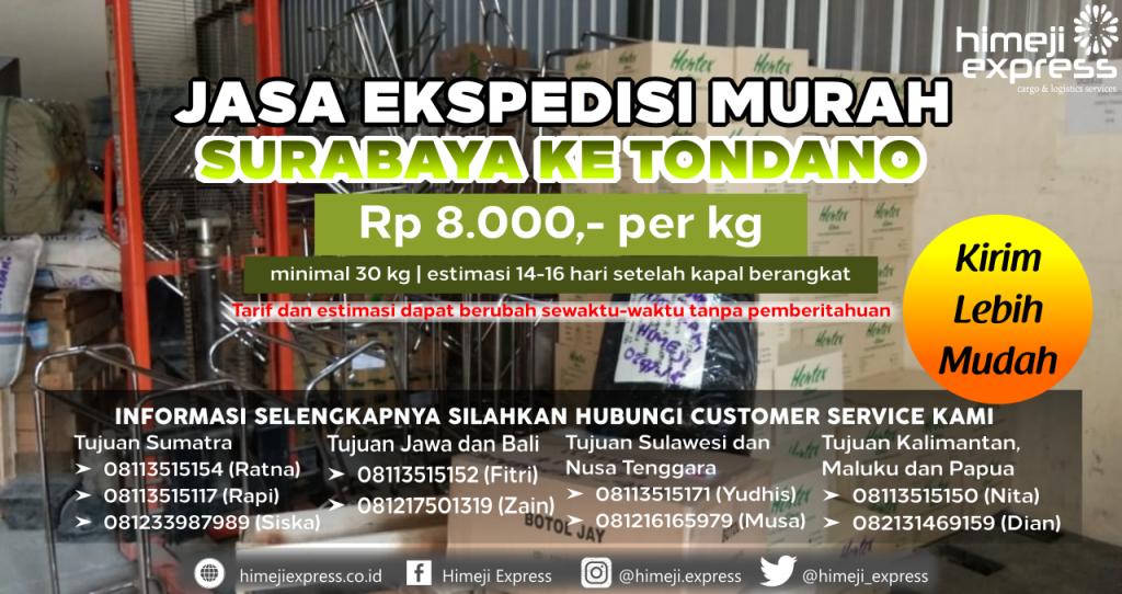Cargo dari Surabaya tujuan Tondano