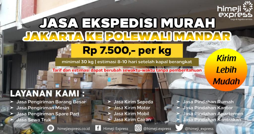 Cargo dari Jakarta tujuan Polewali Mandar