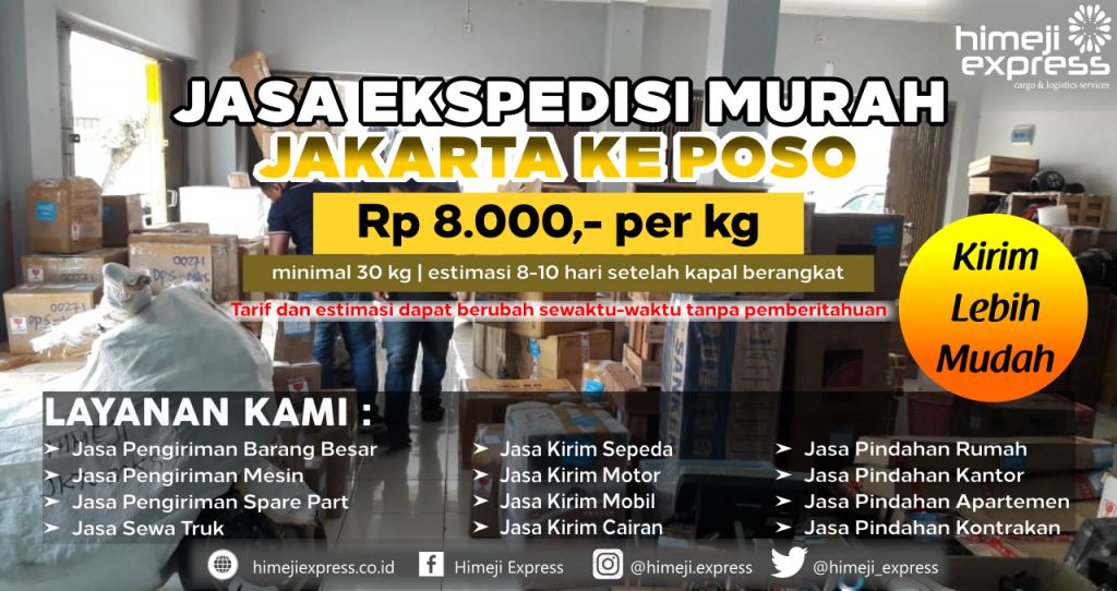 Cargo dari Jakarta tujuan Poso
