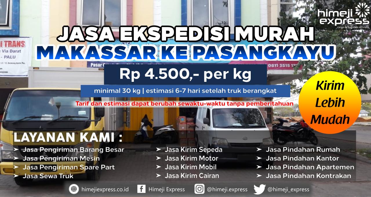 Cargo dari Makassar tujuan Pasangkayu