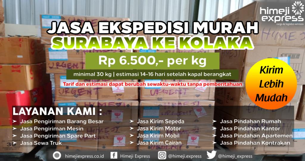 Cargo dari Surabaya tujuan Kolaka