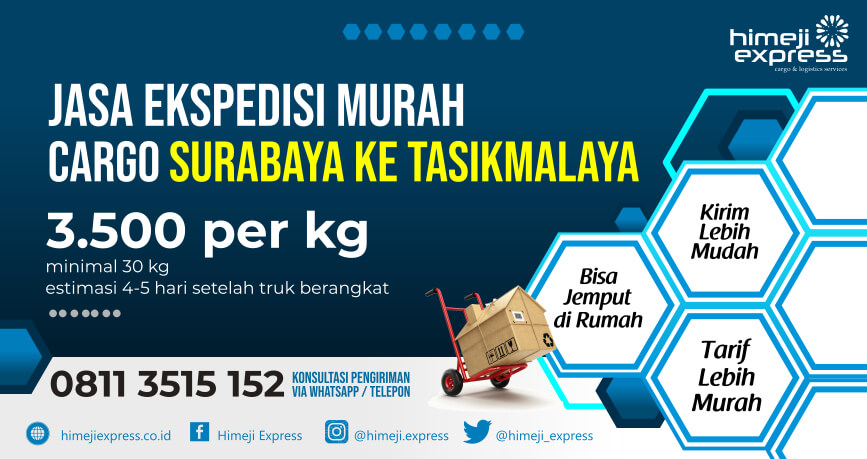 Jasa Ekspedisi Surabaya ke Tasikmalaya