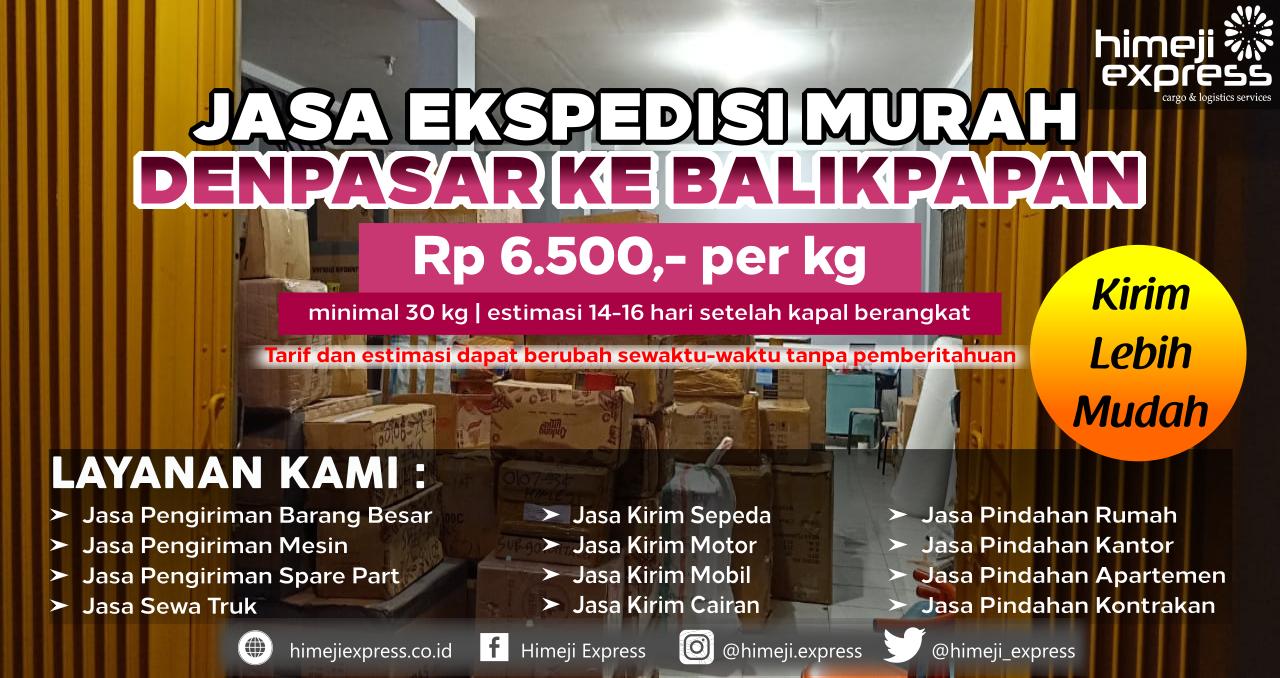 Cargo dari Denpasar tujuan Balikpapan