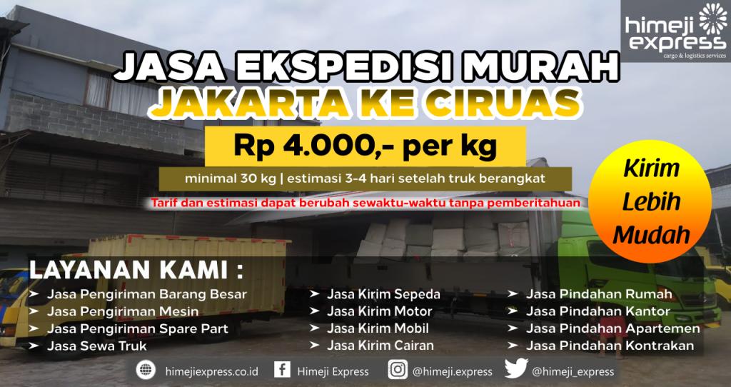 Cargo dari Jakarta tujuan Ciruas