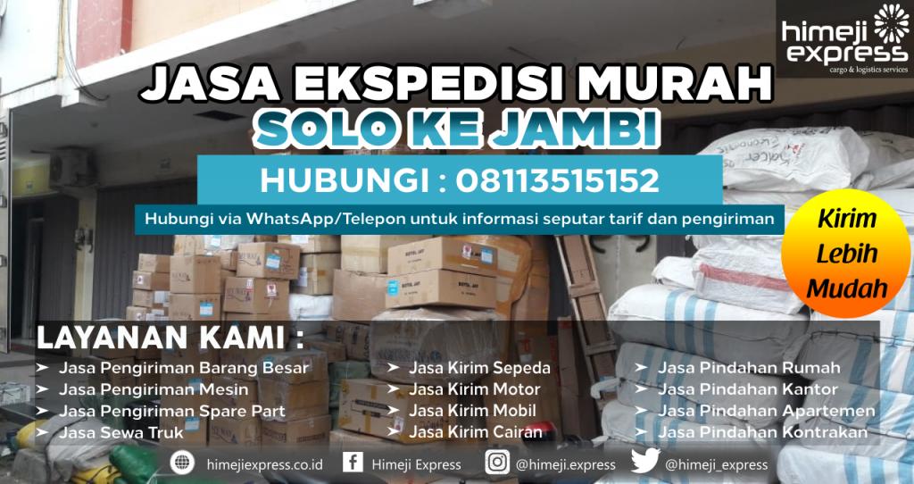 Cargo dari Solo tujuan Jambi