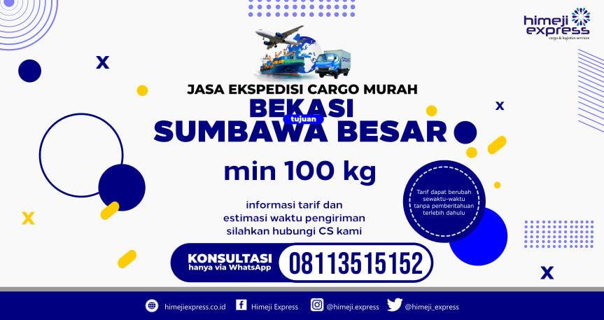 TARIF MURAH Jasa Ekspedisi Bekasi ke Sumbawa Besar