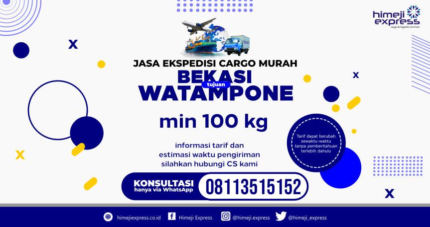 TARIF MURAH Jasa Ekspedisi Bekasi ke Watampone